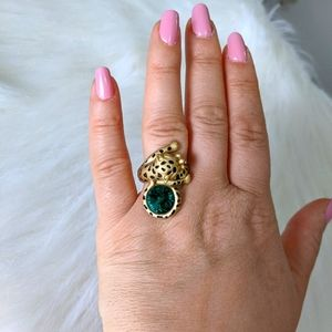 Leopard Cat Vintage Ring